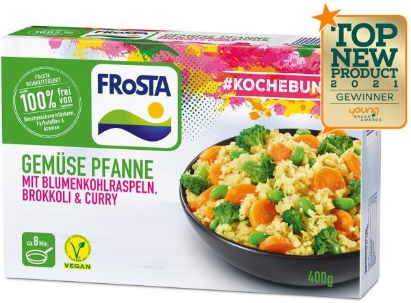 FRoSTA Gemüse Pfanne mit Blumenkohlraspeln, Brokkoli & Curry (400 g)
